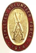 WW1 Athletes Volunteer Force 1914 VTC Badge