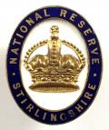 WW1 National Reserve Stirlingshire Scottish home front badge