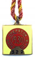 1930 Chepstow Race Club horse racing badge