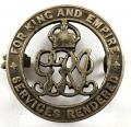 WW1 Services Rendered Silver War Badge Lincolnshire Regiment