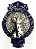 Butlins Filey 1960 annual dancing festival & congress badge