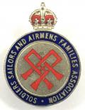 Soldiers Saliors & Airmens Families Assoc SSAFA Armed Forces badge