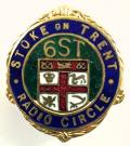 6ST Stoke on Trent BBC Radio Circle Staffordshire relay station badge