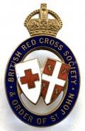 WW1 British Red Cross & Order of St John Officer's badge