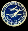Seaton Colyton Beer 1941 Bristol Blenheim fundraising badge