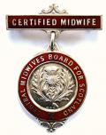 Central Midwives Board For Scotland certified midwife nurses badge