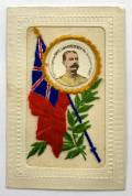 Guerre Europeenne 1914 -1915 Lord Kitchener Red Ensign silk postcard
