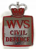 WVS Civil Defence home front badge by W.J.Dingley Ltd.