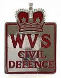 WVS Civil Defence home front badge by Marples & Beasley