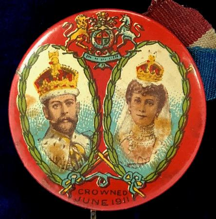 one marked R Whites Cherry Cider on reverse 1935 George V and Queen Mary Coronation Badges
