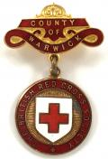 British Red Cross Society County of Warwick badge