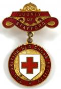 British Red Cross Society County of Stafford badge