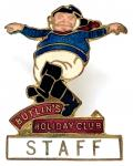 Butlins 1936 Skegness Holiday Club jolly fisherman pre-war Staff badge