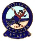 Butlins 1946 Skegness holiday camp Staff badge