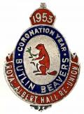 Butlins Beavers 1953 Coronation Year Royal Albert Hall re-union badge