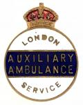 WW2 London Auxiliary Ambulance Service 1939 home front badge