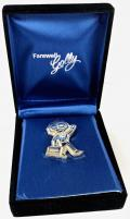 Robertson 2001 Golly Farewell retirement silver plated badge