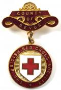 British Red Cross Society County of Devon badge