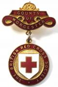British Red Cross Society County of Worcester badge