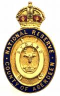WW1 National Reserve County of Aberdeen home front badge.