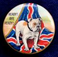 WW1 Patriotic British Bulldog Union Flag fund raising badge.