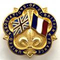 WW2 United Associations of Great Britain & France badge.
