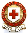 British Red Cross Society First Aid uniform sleeve badge.