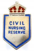 WW2 Civil Nursing Reserve silver nurses badge by Lionel Smith & Co