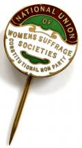 National Union of Womens Suffrage Societies NUWSS badge