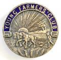 Young Farmers Club supporters pin badge