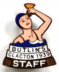 Butlins 1939 Clacton Holiday Camp Staff badge