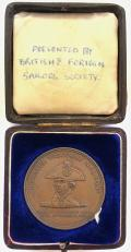 Commemorative medal from copper off Nelsons Flagship Foudroyant