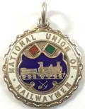 National Union of Railwaymen NUR silver trade union badge.