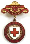 British Red Cross Society County of Somerset badge.