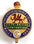 Christian Endeavour 55th British Convention Wales 1953 badge.