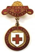 British Red Cross Society County of Cambridge badge.