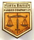North British Rubber Company on national service badge