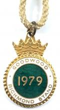 1979 Goodwood Racecourse horse racing badge