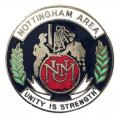 National Union of Mineworkers Nottingham NUM badge