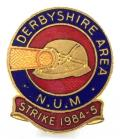 National Union of Mineworkers Derbyshire strike 1984-85 NUM badge