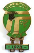 I.O.M. TT Motorcycle Racing Isle of Man supporters club badge.