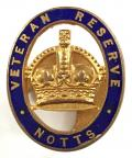 Veteran Reserve Nottinghamshire home front badge.