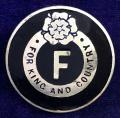 British Fascists 2nd pattern For King And Country membership badge.