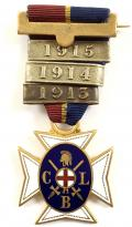 Church Lads Brigade CLB service medal 1913-14-15 clasps