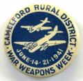 Camelford war weapons week 1941 fighter plane fundraising badge