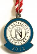 2012 Newbury horse racing club badge.