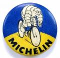 Michelin Man cycle tyre vintage advertising celluloid tin button badge