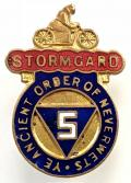 Stormgard waterproof motorcycle clothing c.1920s advertising badge.