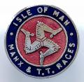 Isle of Man Manx & T.T. Races motorcycle badge.