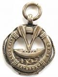 Royal National Lifeboat Institution RNLI charity fund 1909 silver medal.